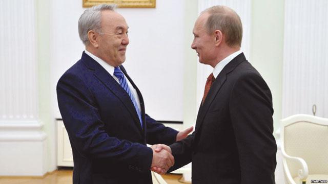 Путин внезапно приехал в Астану на день рождения Назарбаева. azattyg.org