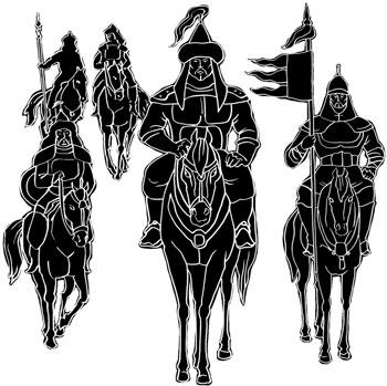 Иллюстрации Анастасии БЕРЕЖНОЙ к книге «Всадники Апокалипсиса: из прошлого в будущее»